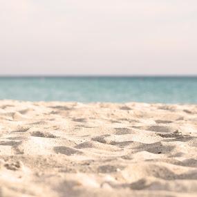 beach by Goran Gašparac - Nature Up Close Sand ( holiday, sand, warm, vacation, blue, summer, sea, beach )