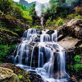 Chunnu Summer Fall, Darjeeling by Saptarshi Datta - Landscapes Waterscapes ( hill, mountain, waterfall, india, darjeeling )