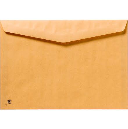 Kuvert C5 brun fukthäft 100/fp