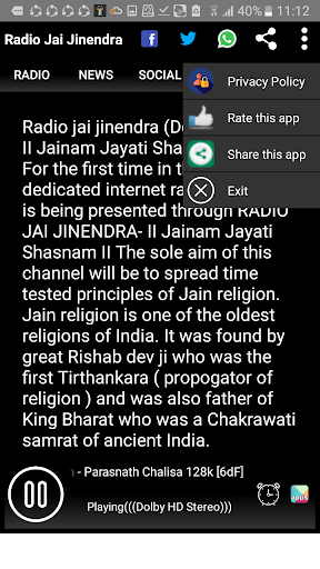 Radio Jai Jinendra- No.1 Online Radio on Jainism screenshot 3
