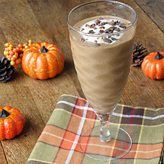Pumpkin Mocha Protein Smoothie.