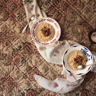 Fall Butternut Squash & Pecorino Risotto With Crispy Bacon