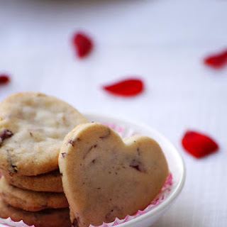 Eggless Rose Almond Cardamom Cookies.