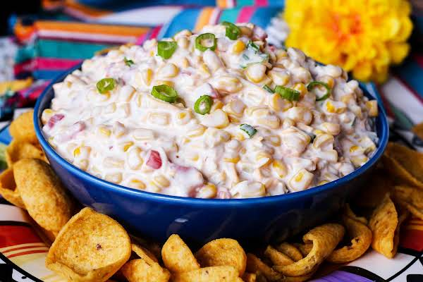 A Bowl Of Mexican Corn Dip.