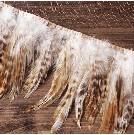 Fjäderband - tupp, 14cm, beige