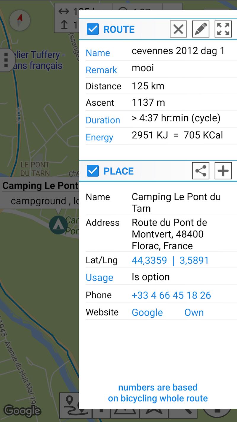 myRouteMap Screenshot 13