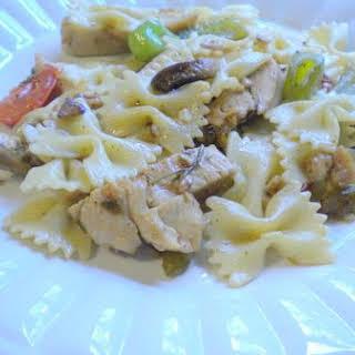 Mediterranean Chicken and Pasta.
