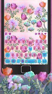 Colorful Flower Keyboard Theme - náhled