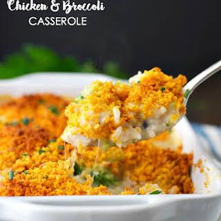 Cheddar Crusted Chicken and Broccoli Casserole.
