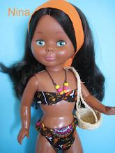 Photo: Creación propia de bikini: Compuesto por bikini forrado, cinta para el cabello y capazo: 19 euros.