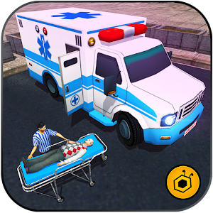 Ambulance rescue simulator 2017 - 911 city driving