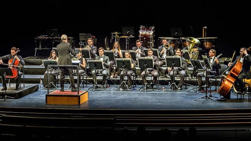 La Orquesta de la UAL durante el recital. (Foto: Pako Manzano).