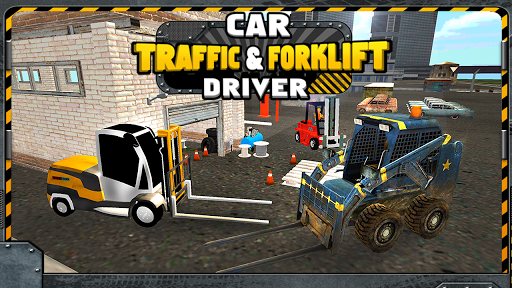 Car Traffic Forklift Driver