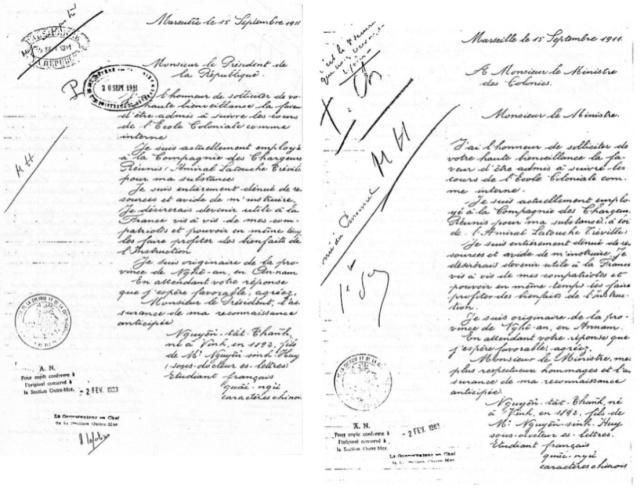 Image result for thư xin học trường thuộc địa