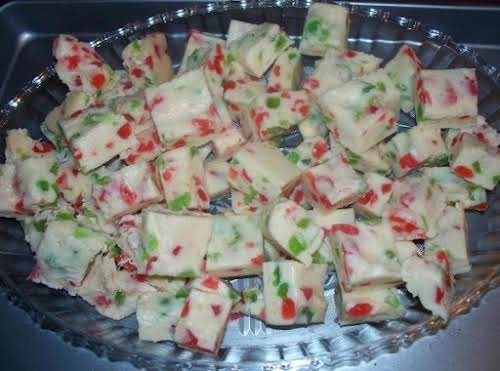 "White Christmas Fudge ""I made this fudge yesterday. I couldn't believe how..."