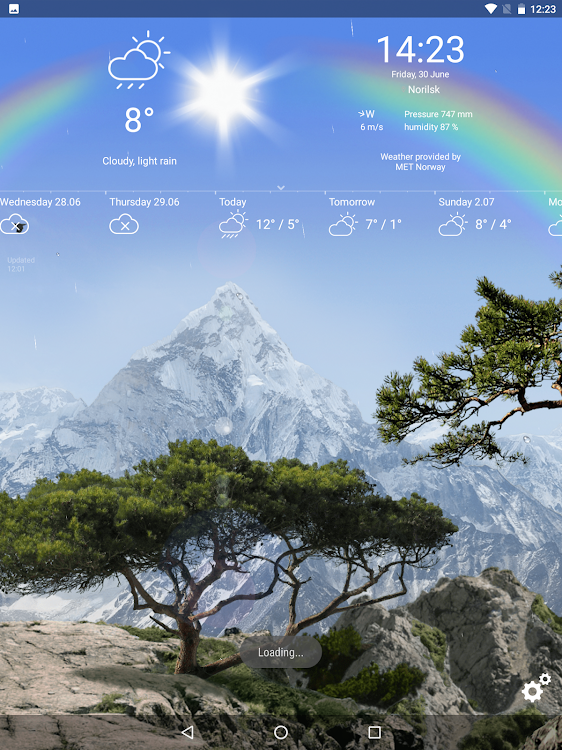 Realistic Weather All Seasons Live Wallpaper Android Apps