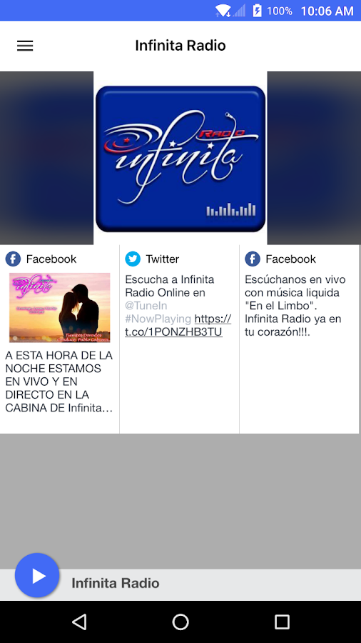 Infinita Radio- screenshot