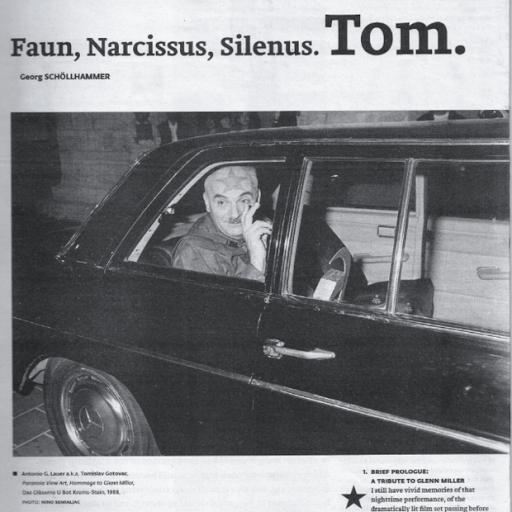 Tomislav Gotovac, Faun, Narcissus, Silenus. Tom.