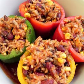 Vegetarian Aegean Sea Stuffed Tomatoes