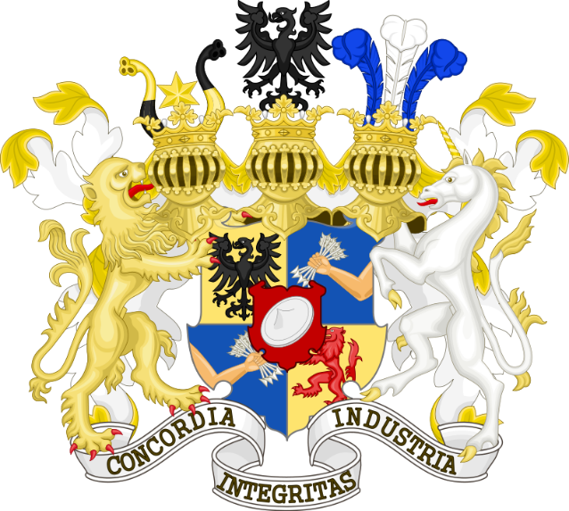 Great coat of arms of Rothschild family.svg
