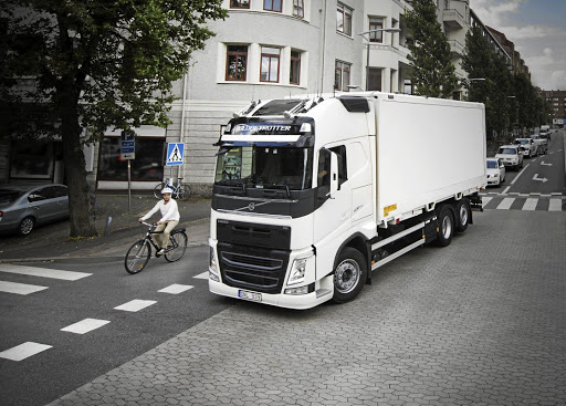 Detecting cyclists in a truck's blind spot is a problem alleviated by camera technology.    Picture: VOLVO TRUCKS