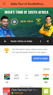 India's Tour of South Africa 2018 - Live - náhled