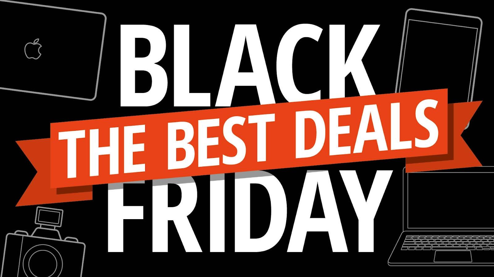 """Imagem com os dizeres """"Black Friday: the best deals"""""""