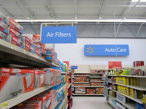 Photo: The Air Filter section was easy to find too, thanks to good signage.