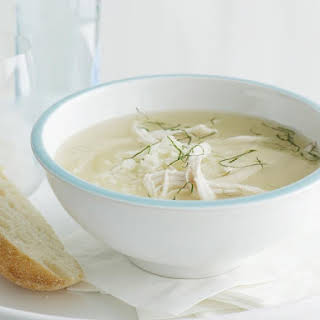 Chicken and Rice Soup with Mint.