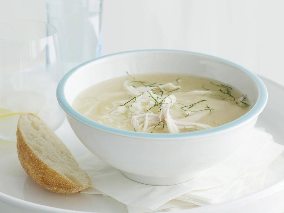 Chicken and Rice Soup with Mint