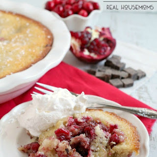 Cranberry Pomegranate Chocolate Cobbler