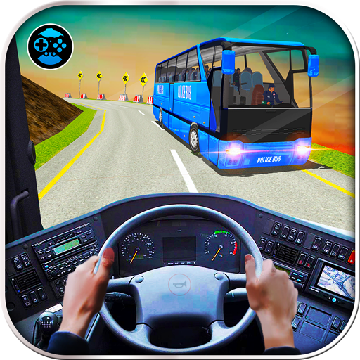 Police Bus Driving Sim: Off road Transport Duty