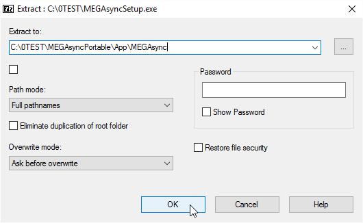 Into App\MEGAsync
