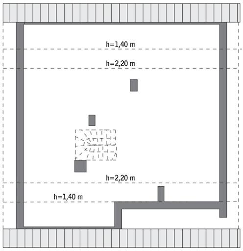 Aromatyczny - C319 - Rzut poddasza do indywidualnej adaptacji (88,5 m2 powierzchni użytkowej)