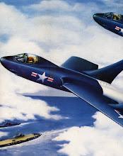 Photo: F7u Cutlass poster given to Patrick Alonzo Tillery bu Chance Vought Aircraft when left -1953