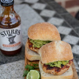 Bar-B-Q Turkey Burgers with Grilled Pineapple Guacamole