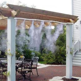 Kit racire terasa cu vapori de apa. Sistem racire cu ceata pentru terasa.