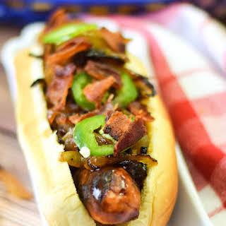 Bourbon Onion Bacon Dog.