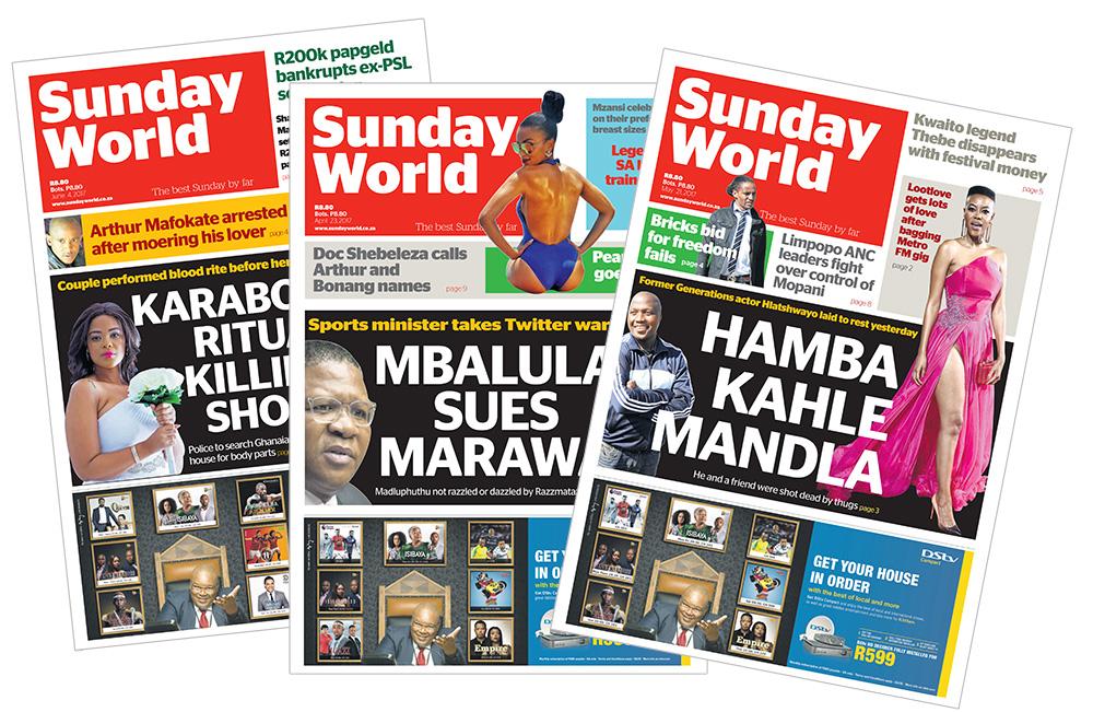 Shwashwi sowetan sunday world Mazibuko was