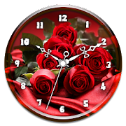 Red Rose Clock Live Wallpaper