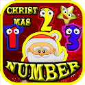 christmas count addition math icon