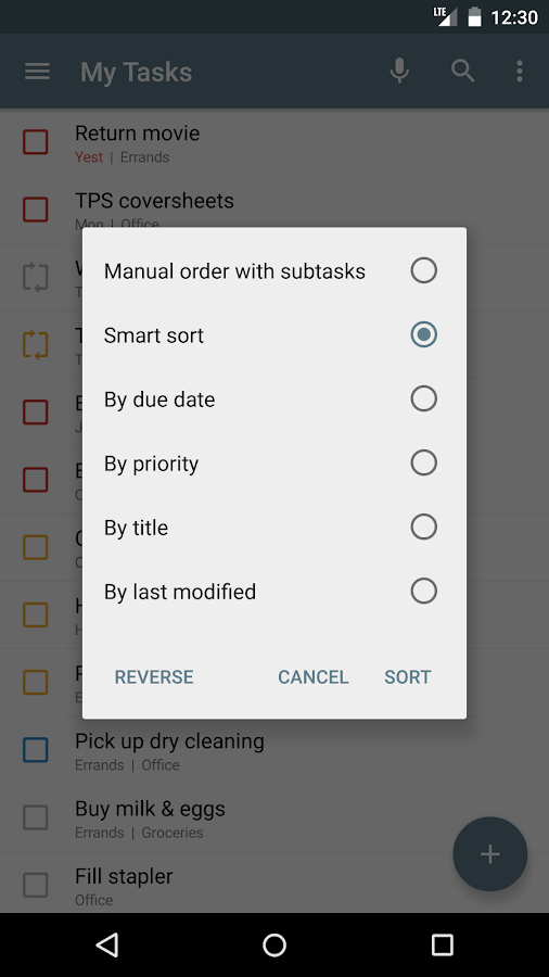 Tasks: Astrid To-Do List Clone - screenshot