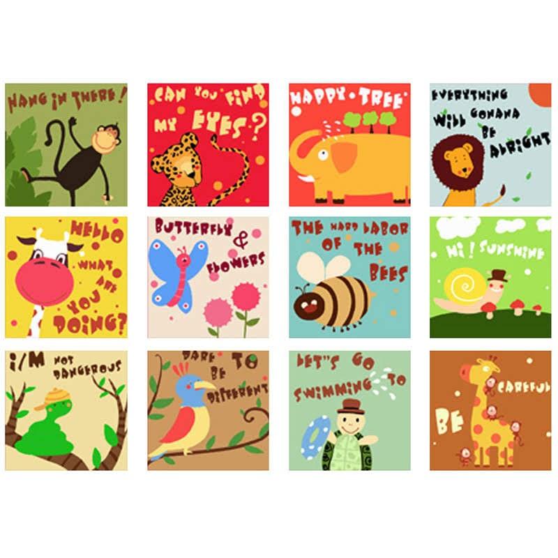 動物教學系列數字油畫套裝