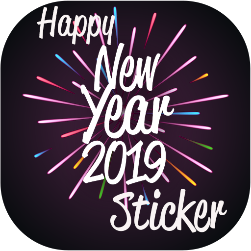 Happy New Year sms - greeting card - Sticker 2019