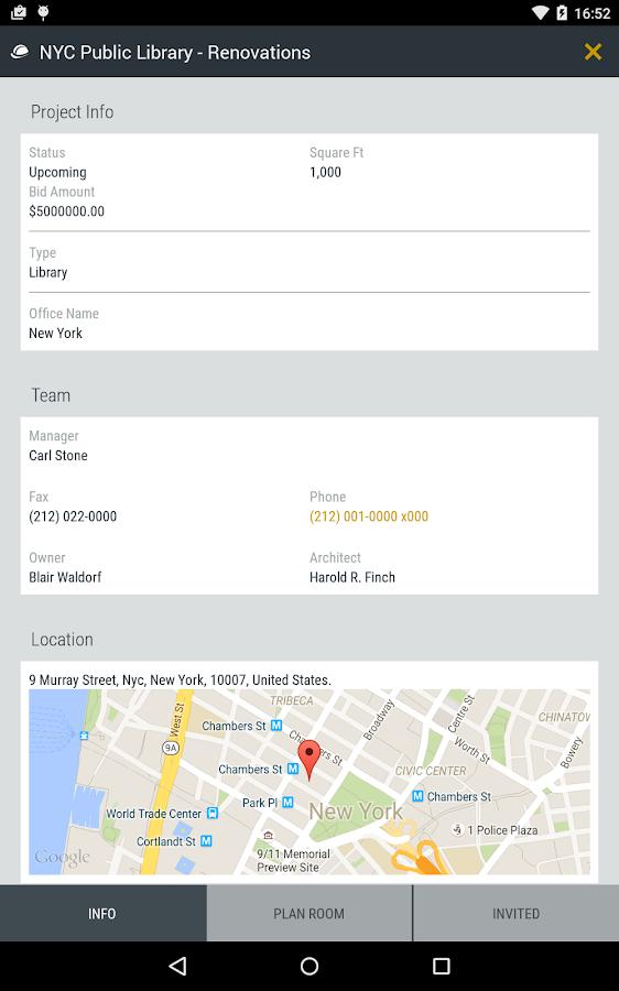 SmartBidNet for Construction - screenshot