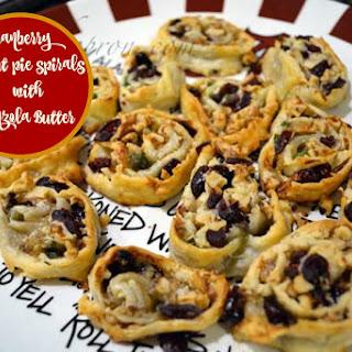 Cranberry Walnut Pie Spirals with Gorgonzola Butter.