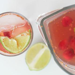 Iced Cranberry Mint Green Tea.