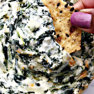 Warm Spinach Dip with Garlic and Parmesan.