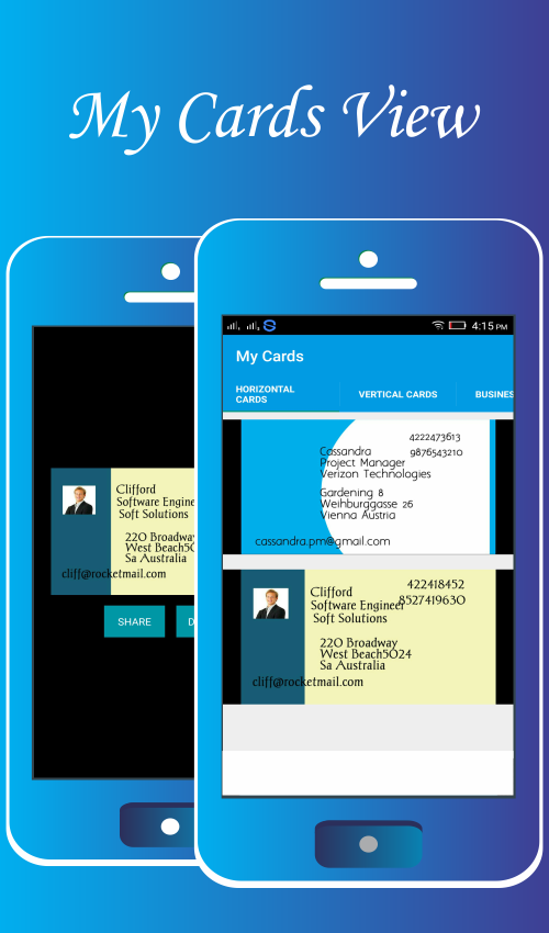 Business cards maker android apps on google play business cards maker screenshot reheart Image collections