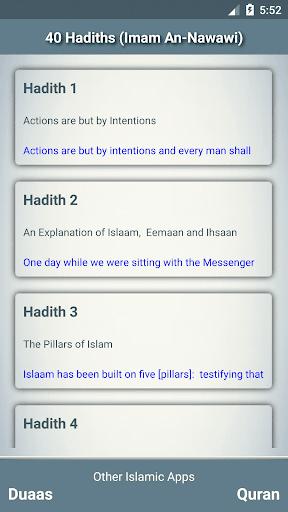 40 hadiths of An Nawawi screenshot 2